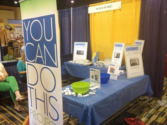A glimpse of the 2012 booth at FFL.